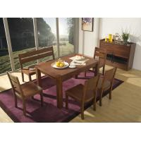 Cheap 2016 Nordic Design Restaurant room Furniture suite in Walnut wood Long dining for sale