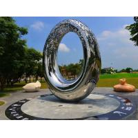 Quality Artificial Style Outdoor Metal Sculpture , Abstract Outdoor Metal Art Sculpture wholesale