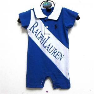 Quality New arrival hot sale 2014 Raulph Lauren designer baby's short cotton Clasp jumpsuits wholesale