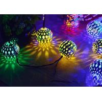 Quality Morocco Ball Solar LED String Lights , Colorful Solar Party String Lights wholesale