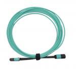 Quality MPO/PC/F to MPO/PC/F for OM3 with 12B 3.0mm for 1M/5M/10M OFNP/LSZH Aqua B wholesale