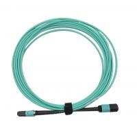 Buy cheap MPO/PC/F to MPO/PC/F for OM3 with 12B 3.0mm for 1M/5M/10M OFNP/LSZH Aqua B from wholesalers