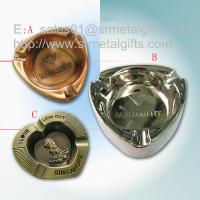China Metal advertising branded cigar ashtray for sale, die casted alloy souvenir ashtrays, on sale