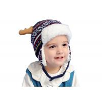 Quality Knitted Ear Cuff Toddler Beanie Hat , Christmas Beanie Hat Unisex Gender wholesale
