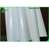 China Recyclable Non - Tearable PP Coating Synthetic Paper For Adhesive Labels on sale