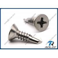 Quality 410 Stainless Steel Philips Flat Head Self Drilling Sheet Metal Screws, Passivated wholesale