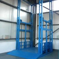 China guide rail hydraulic cargo elevator vertical goods lift platform on sale