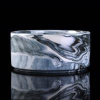 Quality 900ml Marble Candle Jar For Scented Candle , Marble Candle Container wholesale