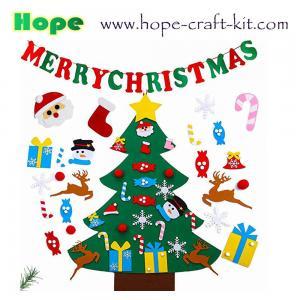 China Merry Christmas Tree Decoration Hanging Pendants Felt Craft DIY Material for Kid  Ornament Creative Craft Kits OEM ODM on sale