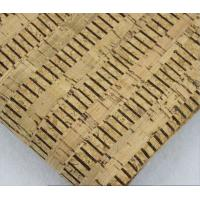 Quality Hot Sell 1.35m Width Cork Fabric with Black Color Stripes by Yard for Sewing Machine wholesale