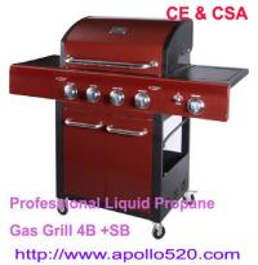Quality Professional Liquid Propane Gas Grill 4B +SB wholesale