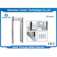 Quality 33 / 45 Zones Walk Through Metal Detector Body Scanner Weatherproof wholesale