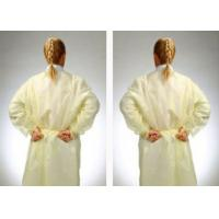 China Fluid Resistant Medical Isolation Gowns , Multi Ply Non Woven Surgical Gown on sale