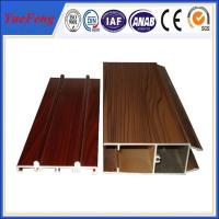 China Wooden Surface Windows And Doors Aluminium Profile Extrusion For Windows And Doors on sale