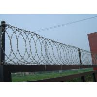Quality Concertina Hot Dipped Galvanized Razor Barbed Wire BTO-22 Two Cilps 0.5mm Thickness wholesale