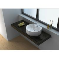 Quality CK1002 global company solid surface white countertop engineered resin stone wash basin wholesale