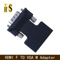 China high quality hdmi female to vga male adapter with 3.5mm audio cable for projector hdmi f to vga m adapter on sale