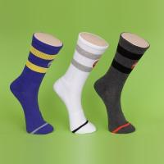 Quality Spandex / Cotton Mens Blue Ankle Socks , Color Stripes Men's Athletic Socks wholesale
