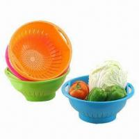 Quality Plastic Basket, FDA Certified, Made of PP, Customized Designs and Colors are Accepted wholesale