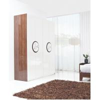 Quality New Design Melamine Material Modern bedroom Custom wardrobe in fashion handle with Open door wholesale