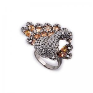 Quality OEM / ODM Custom Design Diamond Animal Jewelry Animal Ring With Zircon wholesale