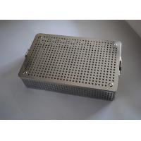 Quality Medical Stainless Steel Perforated Metal Sheet Sterilization Basket 38x30x5cm wholesale
