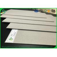 Quality Hard Stiffness 2mm 3mm Recycled Grey Card Board / Grey Chipboard For Book Covers wholesale