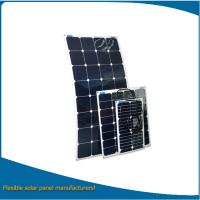 Quality Small power semi flexible solar panel 50w, high eff. solar panel flexible for boat used wholesale
