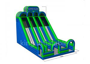 China 0.55mm high Inflatable slide commercial park inflatable water slide sports game on sale
