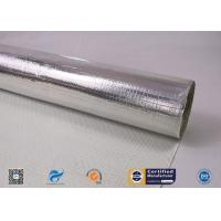 Quality One Side Silver Aluminum Foil Coated Fiberglass Fabric For Fireproof wholesale