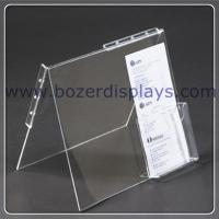 High transparent Acrlic Portable Literature Display for sale
