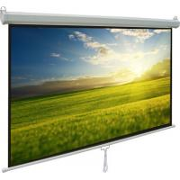 China Durable manual pull down projection screen with Self-lock device on sale