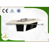 Quality Snow Mountain Gas Teppanyaki Plate Japanese Dining Grill Built In Air Blower wholesale