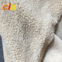 Quality Acrylic Polyester Sherpa Long Pile Faux Fur Fabric For Seat Cover Garment wholesale