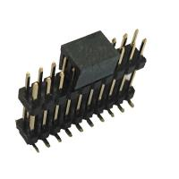 Buy cheap Double Plastic Rual Row Pin Header Connector SMT PA9T Black ROHS from wholesalers