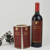 China Personalized Printable Wine Bottle Labels Customized Size ISO 9001 Approved on sale