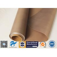 Cheap 0.15mm 300gsm Brown Heat Resistant PTFE Coated Fiberglass Cloth FDA Quality for sale