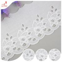 Quality Cotton Netting Trim / Custom Embroidered Lace Trim By The Yard For Decoration wholesale
