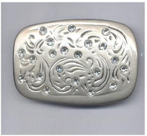 Quality Rhinestone fashionable women belt buckle, brush nickel rhinestone belt buckles, wholesale