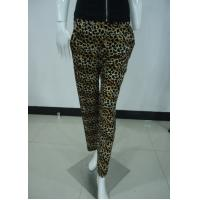 Quality Leopard Print Women'S Fashion Leggings Ladies Velvet Trousers / Pants With Side Pockets wholesale