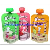 Cheap Custom juice spout pouch, Wholesale China Factory energy drink stand up spout pouch for sale