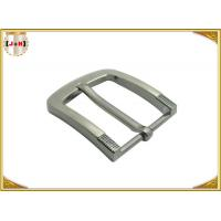 Quality Simple Pin Style Custom Logo Engraved Metal Belt Buckle 40MM for Man wholesale