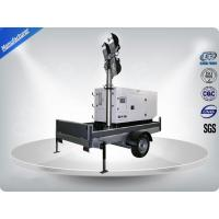 Quality Single Phase Generator Mobile Light Tower Trailer With Manual Operated Mast wholesale