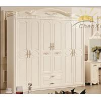 Cheap white solid oak wood wardrobe princess style 6 for Princess style bedroom furniture