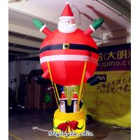 Quality 3m Height Hanging Inflatable Santa Claus with Penguins for Christmas Decoration wholesale