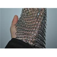 Quality Square Stainless Steel Chainmail Scrubber With Non-toxic , Cast Iron Cleaner wholesale