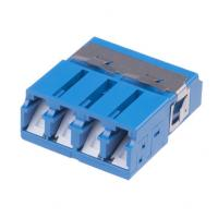 China Quad/duplex LC optical fiber adapter with Internal Shutter, designed for Dust and Laser Protection on sale