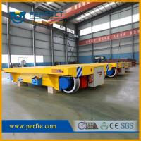 China BJT-20 TONS electric transfer trailer mounted on the track with low flatbed on sale