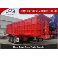 Buy cheap 3 Axles 40 Tons 28-30 Cubic Meters Transport Sand Dump Semi Trailer from wholesalers