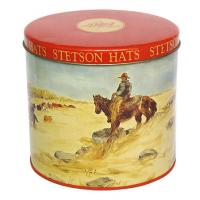 Buy cheap Stetson Hats Tin Container For Cookie Packaging , Food Grade Metal Box Optional Sizes product